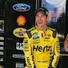 Logano Holds Off Teammate Hornish At Chicagoland