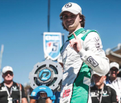 Andretti-Bound Herta Celebrates at Laguna Seca