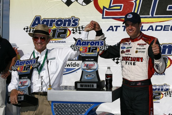 David Ragan had been hunting for his first NASCAR victory - he found it at Talladega. (RacinToday.com photo by David Vaughn)