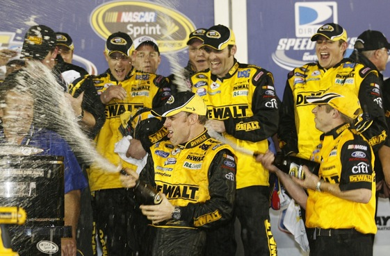 Matt Kenseth plans to use what he learned at the last restrictor plate race to do well this weekend. (Photo by Geoff Burke/Getty Images for NASCAR)
