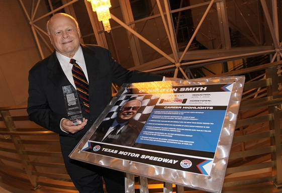 O. Bruton Smith was inducted into the Texas Motorsports Hall of Fame this week. Humbling, he called it. (Photo By Tom Pennington/Getty Images for the Texas Motor Speedway)