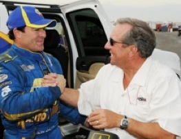 Funny Car driver Ron Capps and Don Schumacher, his team owner, are off the line quickly this year.