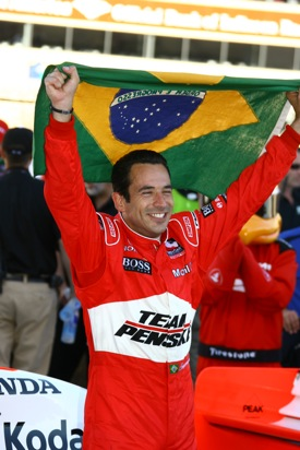 Helio Castronevas during happier times  (Photo courtesy IndyCar)
