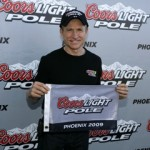 Mark Martin wins the pole at Phoenix. (RacinToday photo by David Vaughn)