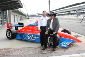John Andretti and Richard Petty at the world's most famous race track. (Photo courtesy of Indianapolis Motor Speedway)