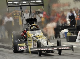 Morgan Lucas collected the Top Fuel victory at Brainerd Sunday.