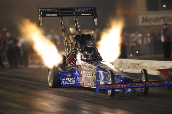 Antron Brown's Friday qualifying run put him in the top spot for Sunday. (NHRA photo)