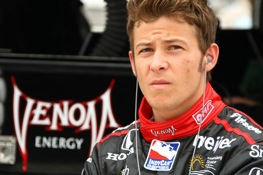 Marco Andretti was fastest at Indy Thursday.