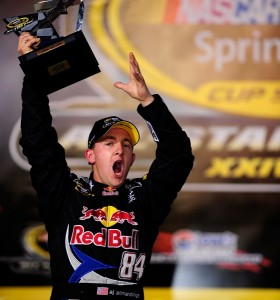 A.J. Allmendinger won the 2008 Sprint Showdown with Red Bull. In 2012, he will be aiming for a Chase berth with Penske Racing. (Photo by Rusty Jarrett/Getty Images for NASCAR)