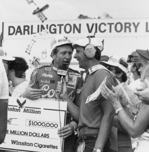 The Legend of Million Dollar Bill was born at Darlington Raceway. (Photo courtesy Darlington Raceway)