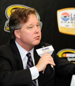 Brian France spoke about NASCAR's drug policy on Friday. On Saturday, Jeremy Mayfield talked back. (Photo by Rusty Jarrett/Getty Images for NASCAR)