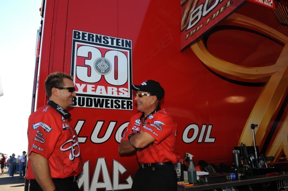 Brandon and Kenny Bernstein have spent 30 years with same sponsor.