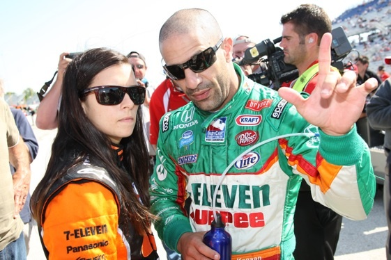 Teammates Danica Patrick and Tony Kanaan talk racing at Milwaukee. How long will they be teammates?