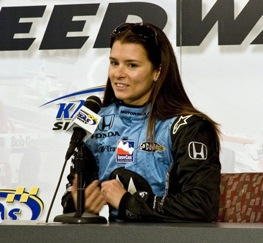 Danica Patrick answered questions from the media on Friday. (RacinToday file photo by Tony Bush)