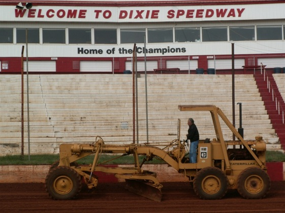 Dixie Speedway is almost always getting some loving care from its owner.