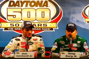 Dale Earnhardt Jr. and Tony Eury Jr. have been separated by Rick Hendrick. (Photo by Jason Smith/Getty Images for NASCAR)