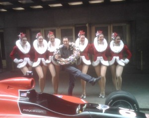 Helio hammed it up with the Rockettes in New York during his Indy 500 Victory Tour.