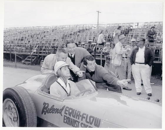 Mugging was once as important at Indianapolis in May as driving. (Photo courtesy of Mary Ellen Loscar and Indianapolis Motor Speedway)