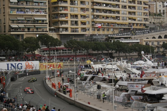 Cheap seats for the Formula One Grand Prix of Monaco is an oxymoron. (RacinToday photo by Jonathan Ingram)