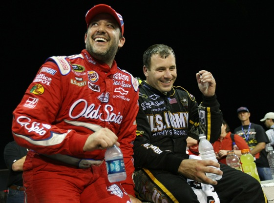 The emergence of the Stewart Haas team and drivers Tony Stewart and Ryan Newman, is adding emphasis to Hendrick domination.  (Photo by Elsa/Getty Images for NASCAR)