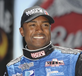 Antron Brown tops in Top Fuel qualifying on Friday.