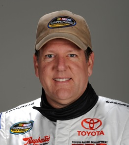 Johnny Benson injured.