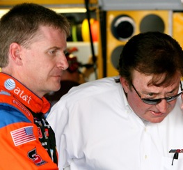 Jeff Burton and team owner Richard Burton are looking for answers. (Photo by Kevin C. Cox/Getty Images)