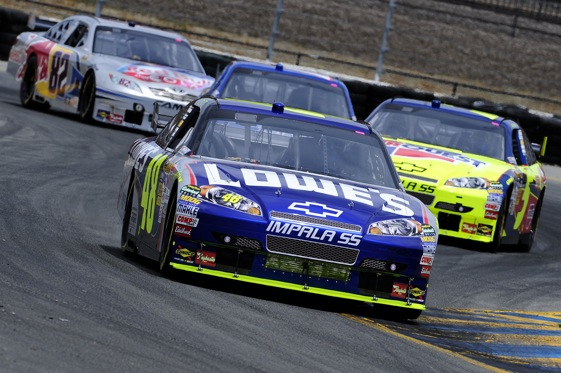 Jimmie Johnson has put things that are right about NASCAR on display in recent weeks.  (Photo by Rusty Jarrett/Getty Images for NASCAR)