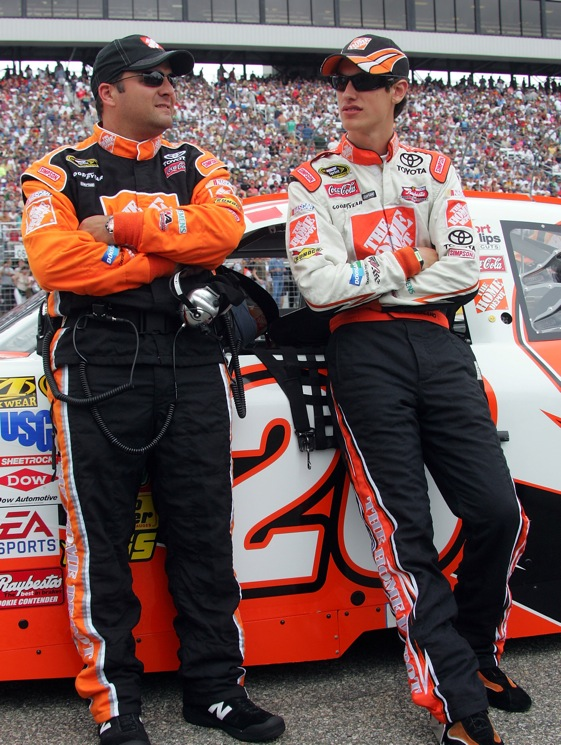 Greg Zipadelli and Joey Logano were cool as it gets before Sunday's race. (Photo by Jerry Markland/Getty Images for NASCAR)
