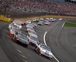 Restarts at all Sprint Cup races will now look like this. Showdown on May 16, 2009 at Lowe's Motor Speedway in Concord, North Carolina.  (