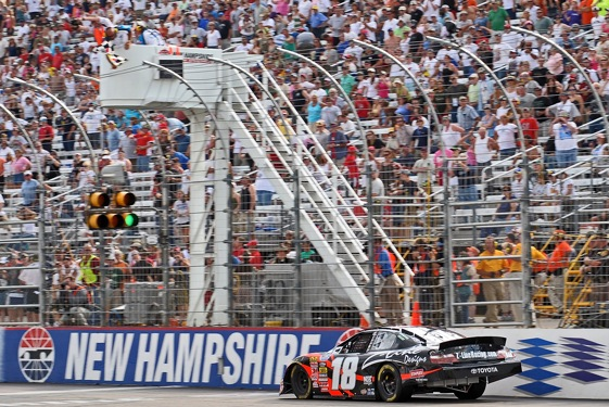 Kyle Busch became the 23rd Nationwide Series winner at New Hampshire Saturday. There have been no repeat winners. (Photo by Drew Hallowell/Getty Images for NASCAR)