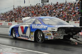 Pro Stock driver Ron Krisher toes the starting line in Englishtown N.J. (NHRA Photo)