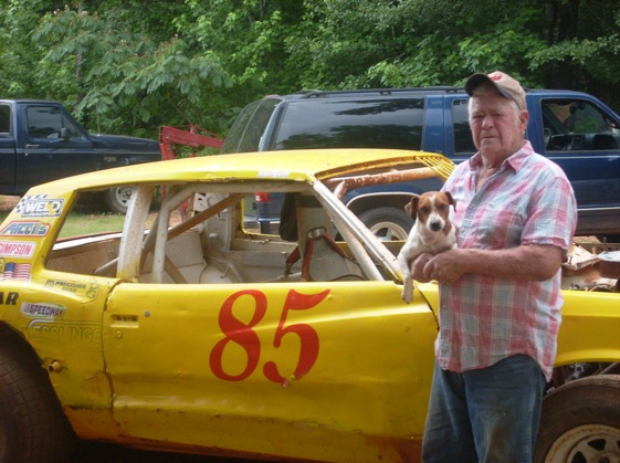 """Pappy"" and Petey and the car which features a number change every year."