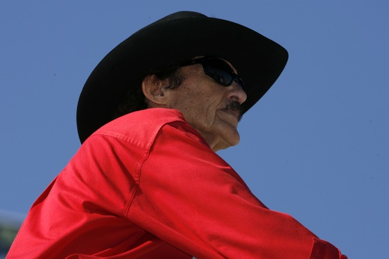 Richard Petty has teamed up with Budweiser, something he would not have done in the past. (RacinToday photo by David Vaughn)