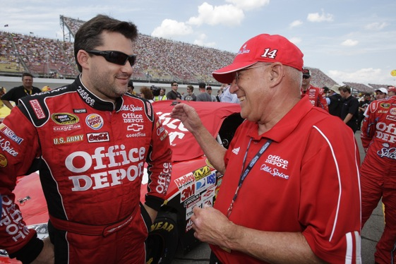 Tony Stewart and his father, Nelson Stewart, have been brought closer together by racing.