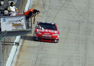Tony Stewart was second to take the checkered flag at Dover on Sunday, but he is first in points today. (Photo by Nick Laham/Getty Images)