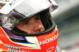 Dan Wheldon fastest in Texas. (Dan Helrigel photo courtesy of the IndyCar Series)