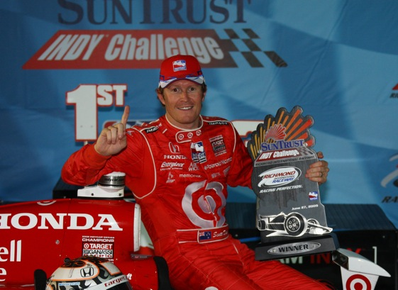 Scott Dixon was No. 1 at Richmond, but ended up apologizing to fans. (IndyCar Series photo by Shawn Payne)