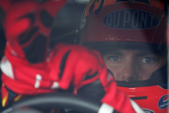 Jeff Gordon still gets pumped about driving at Indianapolis Motor Speedway.  (Photo by Todd Warshaw/Getty Images for NASCAR) 