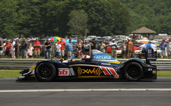 Simon Pagenaud and his de Ferran Motorsports-owned Acura came out on top at Lime Rock on Saturday.  (American Le Mans Photo)