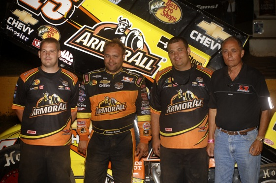 The Victory Lane at Cedar Lake (World of Outlaws photo by Doug Johnson)