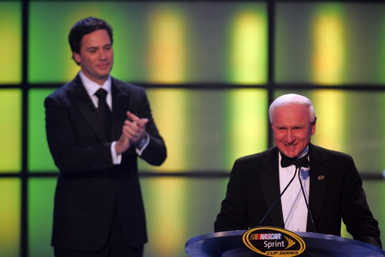 Were two future members of the NASCAR Hall of Fame on the same stage in New York City last December? (Photo by Chris Trotman/Getty Images for NASCAR)