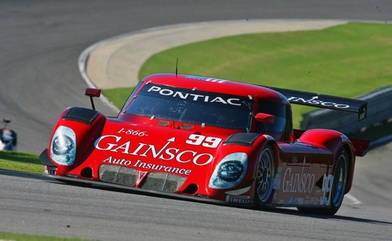 "The ""Red Dragon"" of Gainsco moved into a tie in points by winning in Alabama on Sunday. (Grand-Am Series Photo)"