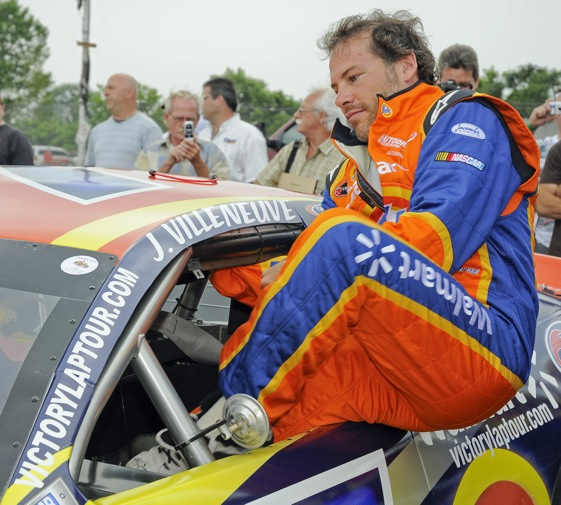Jacques Villeneuve will slide into a Braun Racing Nationwide car in Montreal.