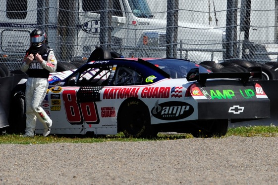 A bad season got worse for Dale Earnhardt Jr. on Monday at the Watkins Glen road course.  (Photo by Rusty Jarrett/Getty Images for NASCAR)