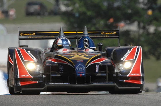 Gil de Ferran set the fastest lap in Saturday morning's practice session for the Time Warner Cable Road Race Showcase at Road America. He then went on to win the pole in the afternoon. (American Le Mans Series photo)