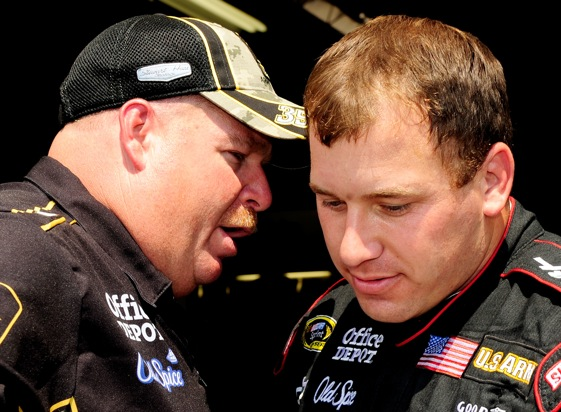 Chances are, crew chief Tony Gibson is telling Ryan Newman how to save fuel this weekend at Michigan International Speedway. (Photo by Rusty Jarrett/Getty Images for NASCAR)