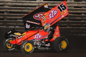 Donny Schatz captured his fourth straight championship at the Knoxville Nationals on Sunday.  (Ken Simon Photo)