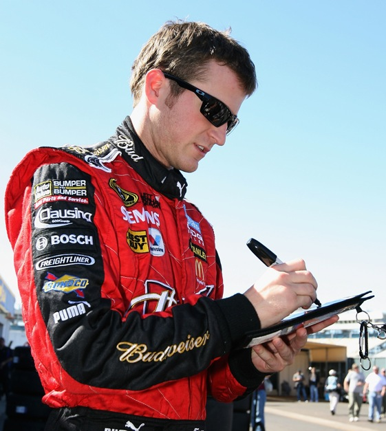 Kasey Kahne opened up a bit during interviews this week.   (Photo by Christian Petersen/Getty Images)