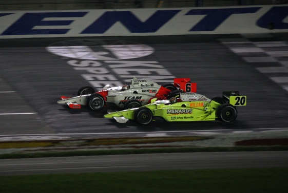 The finish in the IndyCar Series race at Kentucky Speedway resulted in a victory for changes to the cars.